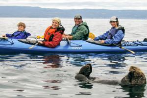 Kayaking at Great Alaska Adventure Lodge.