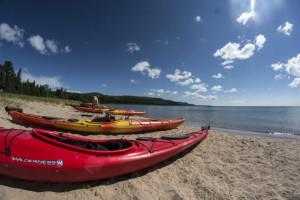 Kayaking at Aqua Log Cabin Resort.