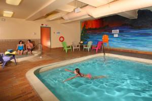 Indoor pool at Bayview Wildwood Resort.