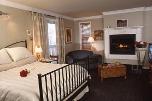 Guest room at Auberge La camarine.
