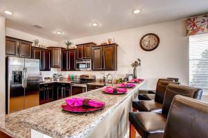 Rental kitchen at Florida Paradise Villas.