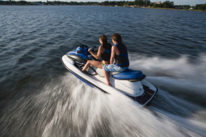 Jet skiing at Pine Lodge Cabins & Suites.