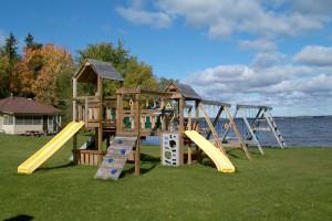 Kid's playground at Pine Aire Resort.