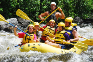 Rafting at Mountain Shadows Resort.