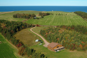 Aerial view of Wild Goose Lodge.