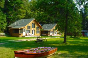 Cabins at Mantrap Lodge.