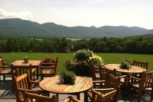 Patio view at The Mountain Top Inn & Resort.