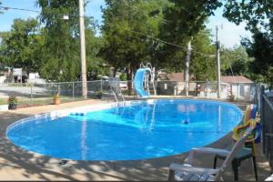 Outdoor pool at Calm Waters Resort.