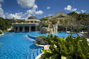 Outdoor pool at Sandy Lane.