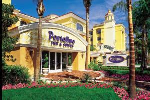 Exterior view of Portofino Inn and Suites.