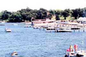Boats on the Water at Blue Lake Resort