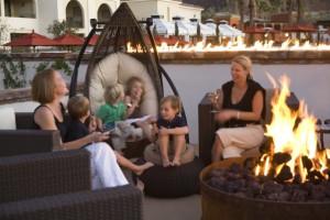 Sitting Around the Fire at Montelucia Resort