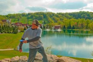 Disc golf at Bear Creek Mountain Resort.