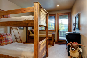 Vacation rental bunk room at SkyRun Vacation Rentals - Park City, Utah.
