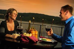 Outdoor dining at D' Monaco Luxury Resort.
