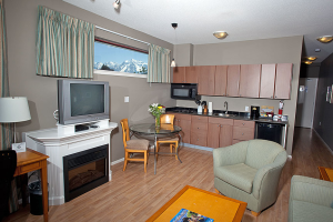 Suite living space at Harrison Beach Hotel.