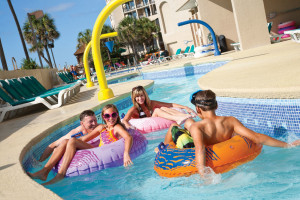 Lazy River at Beach Cove Resort.