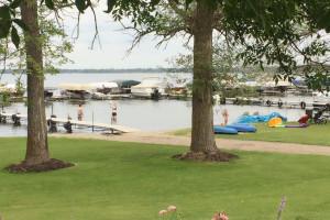 Fishing dock at Hook Line & Sucher Resort.