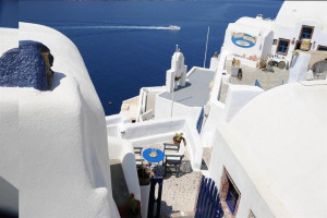 Exterior view of Fotinos Houses Oia.