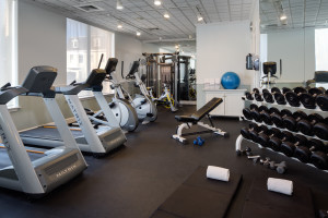 Fitness room at The Hotel Viking.