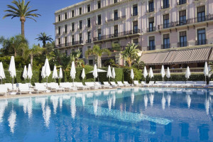 Outdoor pool at Hotel Royal Riviera.