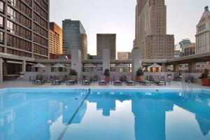 Outdoor pool at Millennium Hotel Cincinnati.