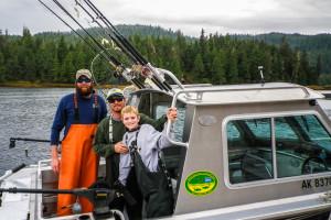 Fishing at Yes Bay Lodge.