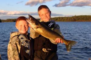 Fishing at Dogtooth Lake Resort.