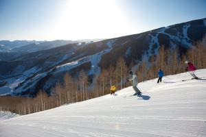 Family skiing at The Borders Lodge.