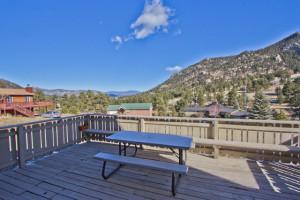 Vacation rental deck view at EstesParkRentals.com.