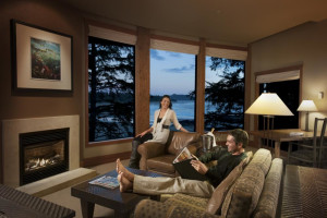 Canopy suite at Wickaninnish Inn.