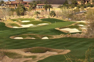 Golf course near Hilton Lake Las Vegas Resort & Spa.