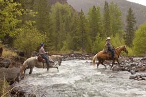 Horseback riding at Absaroka Mountain Lodge.