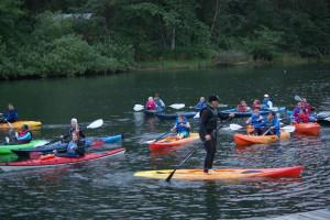 Kayaking at Shorepine Vacation Rentals.