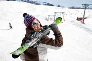 Skiing at Solaris Residences.