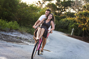 Biking on Bald Head Island.