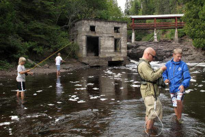 Fly fishing at The Mountain Inn at Lutsen.