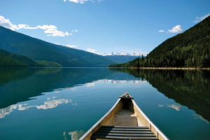 Canoeing at Glacier House Resort.