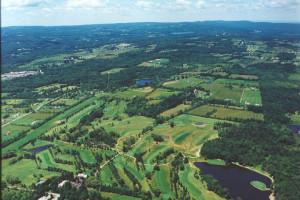 Aerial view of Rainbow Golf Club.