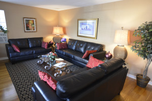 living room - massive 5 room Two Bedroom apartment suite at Friendship Suites.