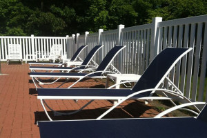 Lounge chairs at Acadia Inn.
