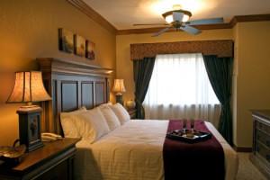Guest bedroom at Westgate Park City Resort & Spa.