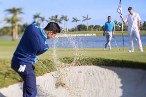 Playing golf at Trump National Doral Miami.