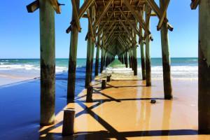 Fishing pier at Treasure Realty.