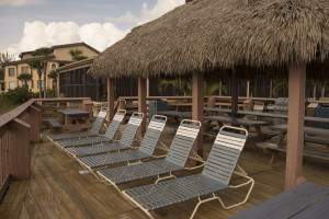 Lounge chairs at Sea Oats Beach Club.