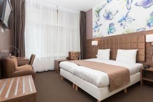 Guest room at Hotel Wilhelmina.