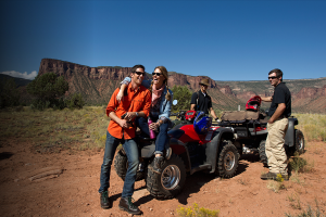 Friends Ridding Atv's at Gateway Canyons Resort