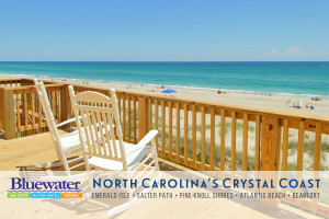 Rental deck at Bluewater Real Estate.