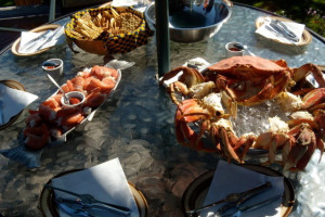 Crab dinner at Grizzly Bear Lodge & Safari.