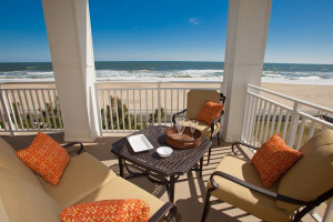 Rental patio at Sanctuary Realty At Sandbridge.